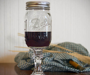 Mason Jar Wine Glass