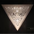 MATA paper lamp by Catherine Perez Vega