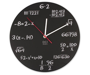 Math Lovers Wall Clock