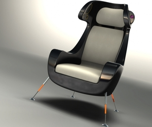 Media Chair with Speakers, iPod Dock and Projector