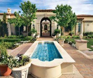 Mediterranean Pool & Exterior
