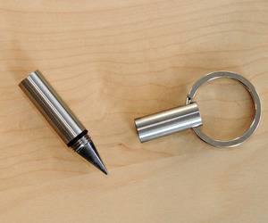 Metal Inkless Pen + Key Ring