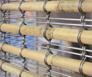 Metal Mesh and Bamboo from GKD Metal Fabrics