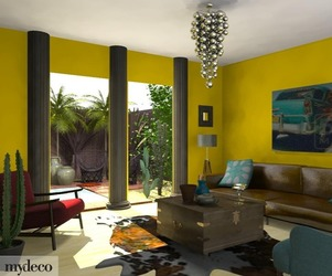 Mexico Twist 3D room design