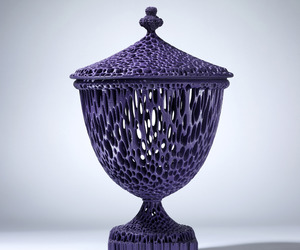 Michael Eden,  A Tall Purple Wedgwoodn't Tureen, 2010