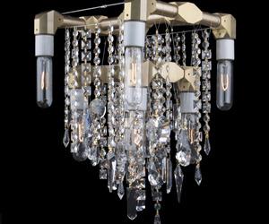 Michael McHale Designs-Bryce 9 bulb compact chandelier