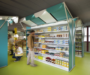mini M grocery shop in Toulouse by Matali Crasset