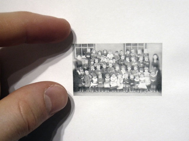 Mini Pencil Drawings Look Like Vintage Photos