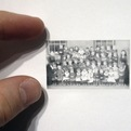 Mini pencil drawings look like vintage photos.
