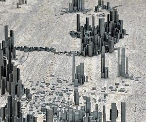 Miniature City Built Using 100,000 Staples