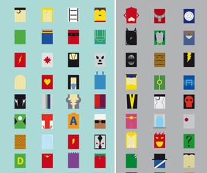 Minimalism Heroes and Villains Posters