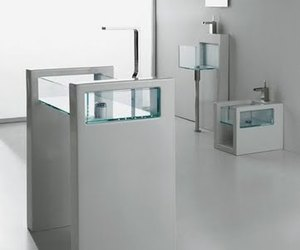 Minimalist Glass Bathroom Suites from Ceramica GSG