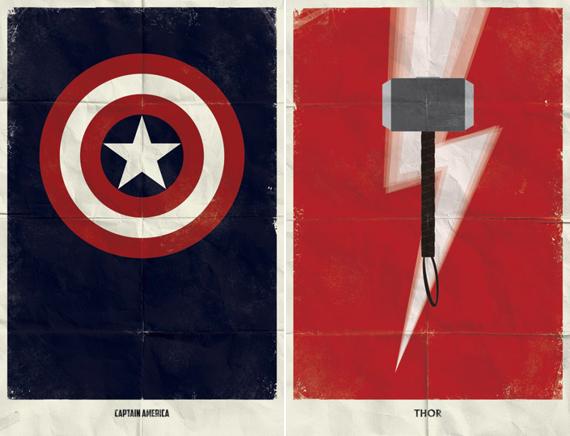 Minimalist Marvel Superhero Posters By Marko Manev