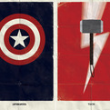 Minimalist Marvel Superhero Posters by Marko Manev
