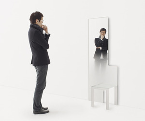 Mirror Chair and Mirror Stool by Nendo