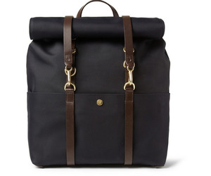 Mismo Leather Trimmed Canvas Backpack