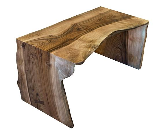 Kitchen Bench Waterfall Edge: Miter Wrap Bench