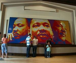 MLK Made with 4,242  Rubik's Cubes