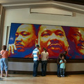 MLK Made with 4,242  Rubik's Cubes