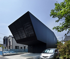 Modern Black Home in Japan