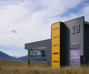 Modern box in the rolling prairies of Montana