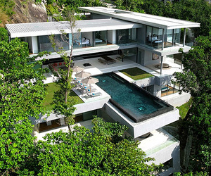 Modern Cantileverd Villa in Phuket, Thailand