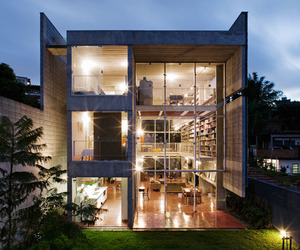 Modern Concrete House in Sao Paulo