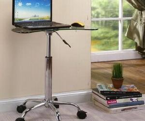 Modern Glass & Metal Laptop Stand by 2K Design