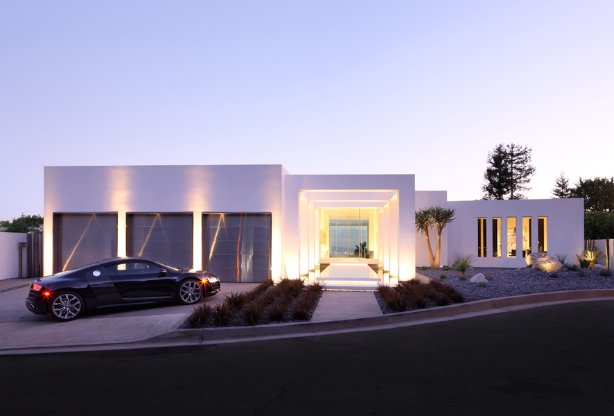 Modern home designed in pure minimalism for Modern mansions in beverly hills