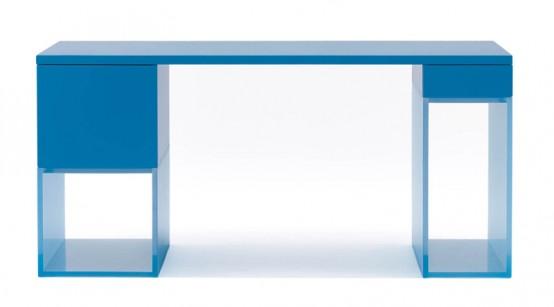 detailing 1214e bca38 Modern Home Office Desk by Karim Rashid for Dune