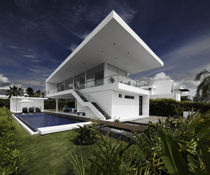 Modern Home With Sharp Lines In The Colombian Neighborhood