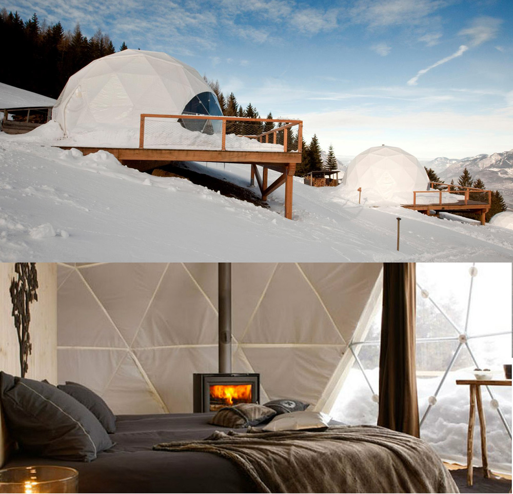 Modern Igloo Pods Amp Private Skiing In Switzerland