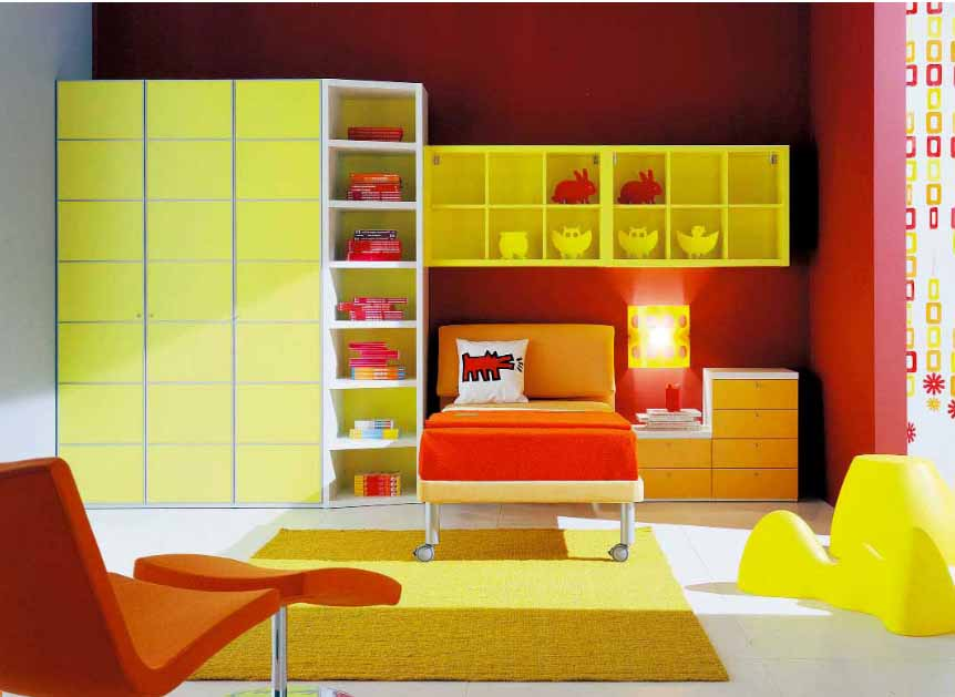 modern kids room from italian company. Black Bedroom Furniture Sets. Home Design Ideas