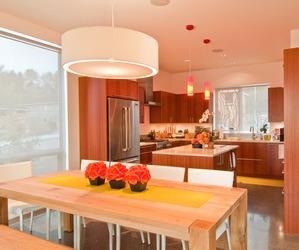 Modern Kitchen + Dining Room by BUILD LLC