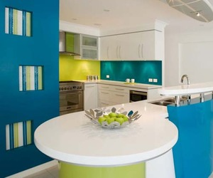 Modern Kitchen Set for Beach House by Kim Duffin