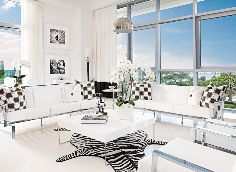 Living Room Miami Amusing Modern Living Room In Miami Beach Inspiration
