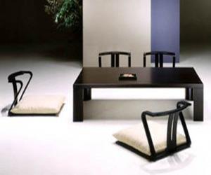 Modern Minimalist Low Japanese Dining Furniture Set