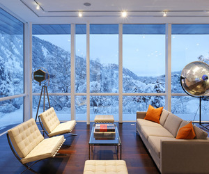 Modern retreat in the mountains