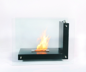 Modern Slate Fireplace with Bio Ethanol Flame