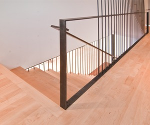 Modern Stairs + Rail by BUILD LLC