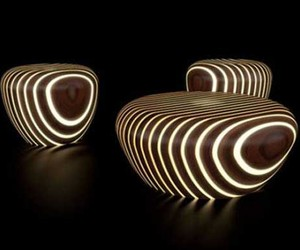 Modern Wood Furniture That Shines In The Dark
