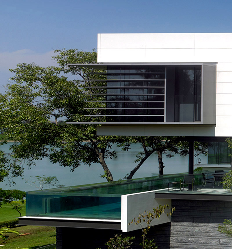 Modernist Home With Suspended Pool By Scda