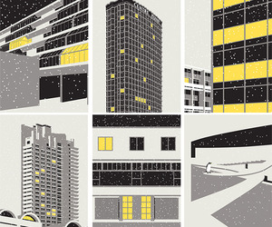 Modernist London Winter Edition II Cards by Stefi Orazi