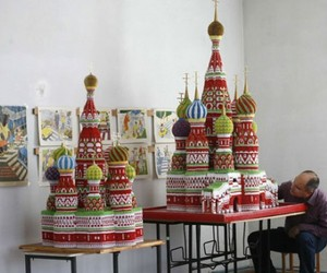 Modular Origami Model Of St. Basil Cathedral Moscow