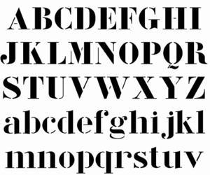 Modular Stencil Corbu Font