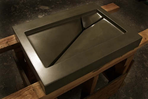 Molds for concrete sinks from The Concrete Apothecary