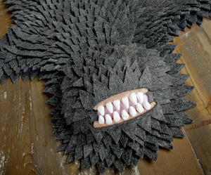 Monster Skin Rug, Now in Grey