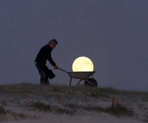 Moon Games - Whimsical Moon Photography