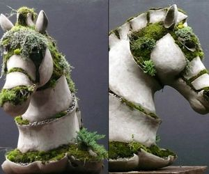 Moss and Concrete Sculptures