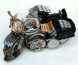 Motorbikes Made from Watch Parts